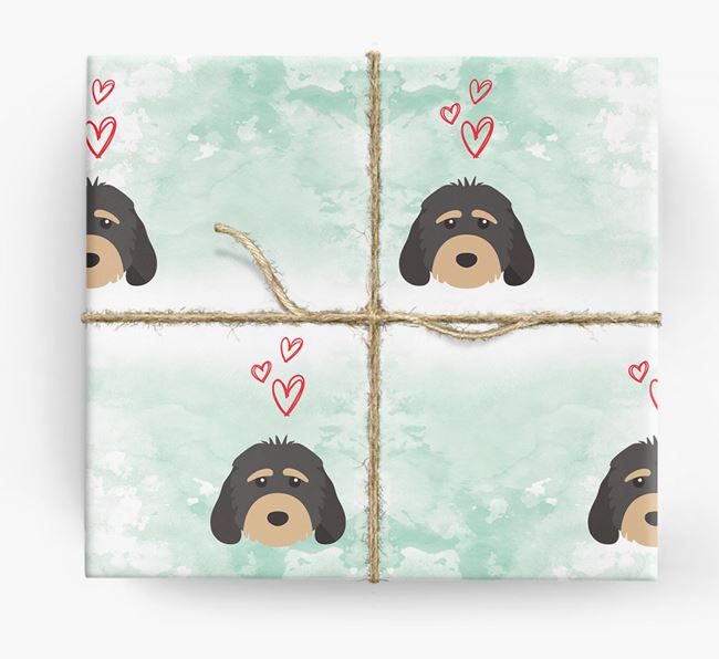 Cockapoo Icons & Hearts Wrapping Paper
