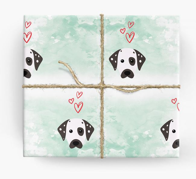 Dalmatian Icons & Hearts Wrapping Paper