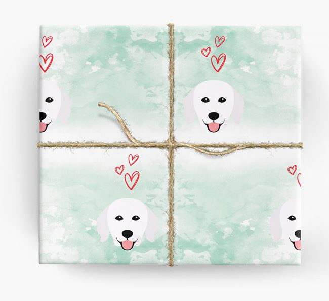 Kuvasz Icons & Hearts Wrapping Paper