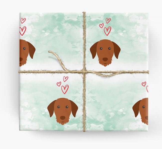 Vizsla Icons & Hearts Wrapping Paper
