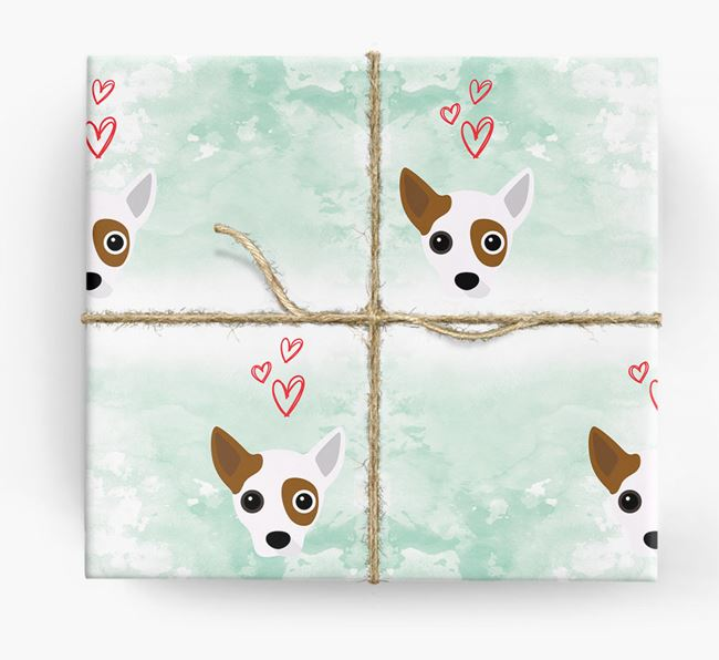 Jack Chi Icons & Hearts Wrapping Paper