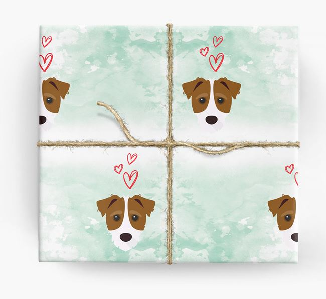 Jack-a-Poo Icons & Hearts Wrapping Paper