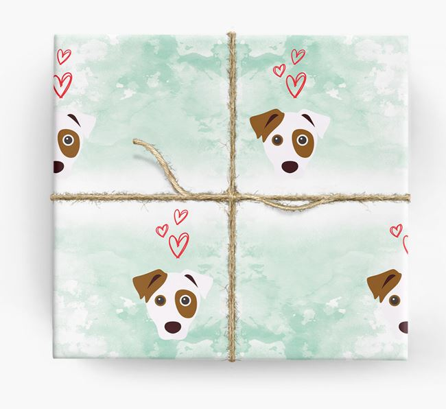 Dog Icons & Hearts Wrapping Paper