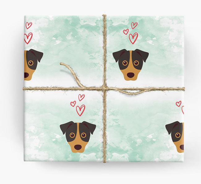 Jack Russell Icons & Hearts Wrapping Paper