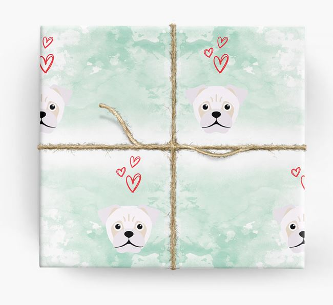 Jug Icons & Hearts Wrapping Paper
