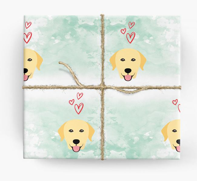 Labrador Icons & Hearts Wrapping Paper