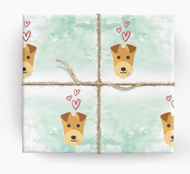 Lakeland Icons & Hearts Wrapping Paper