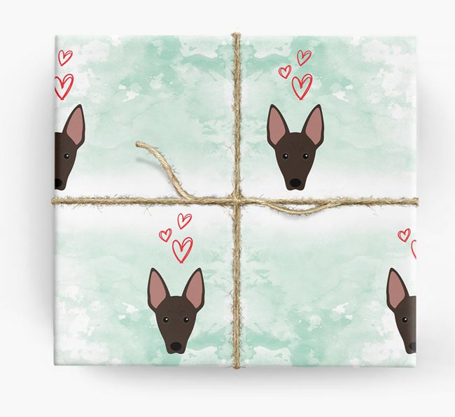 Mexican Hairless Icons & Hearts Wrapping Paper