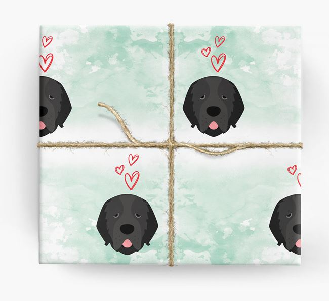 Newfoundland Icons & Hearts Wrapping Paper