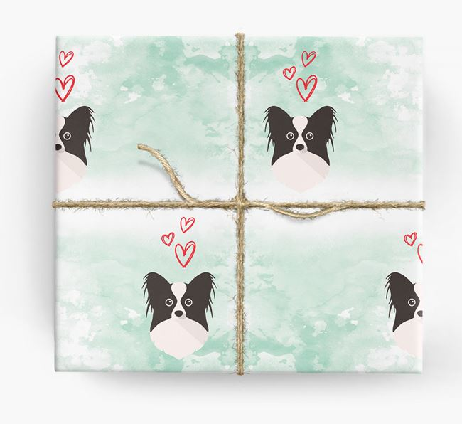 Papillon Icons & Hearts Wrapping Paper