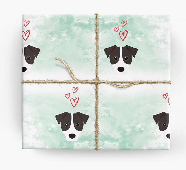 Parson Russell Icons & Hearts Wrapping Paper