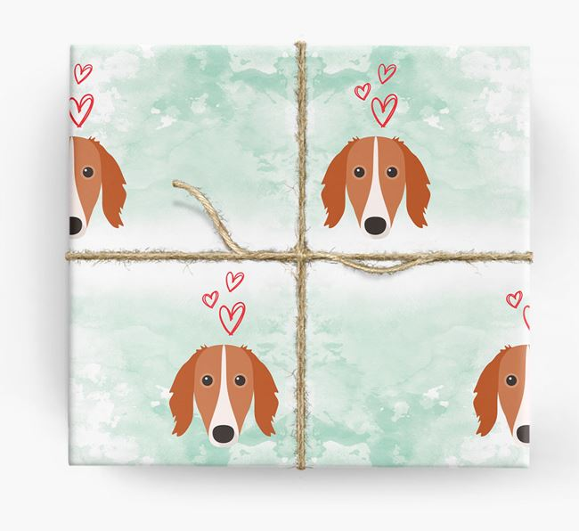 Saluki Icons & Hearts Wrapping Paper