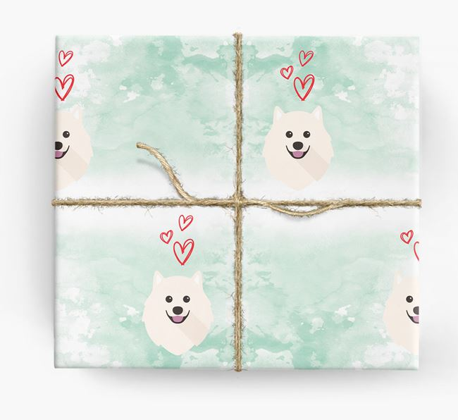 Samoyed Icons & Hearts Wrapping Paper