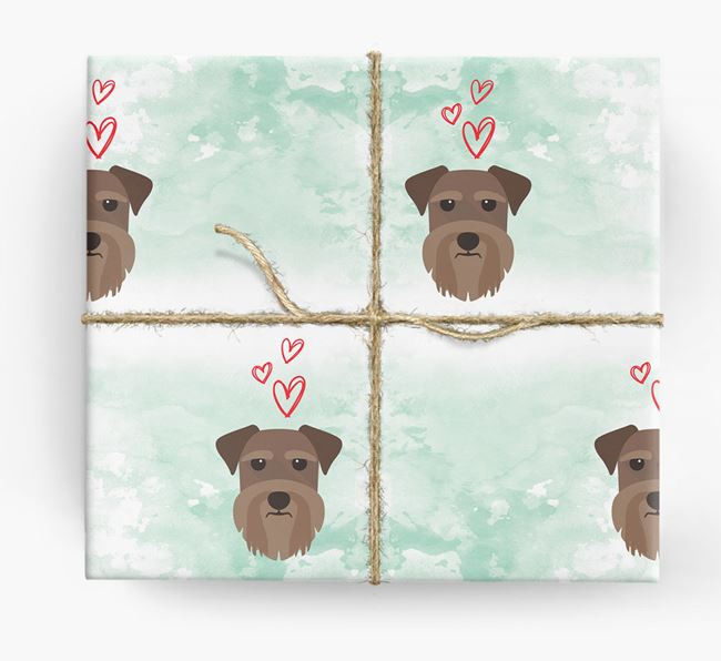 Schnauzer Icons & Hearts Wrapping Paper