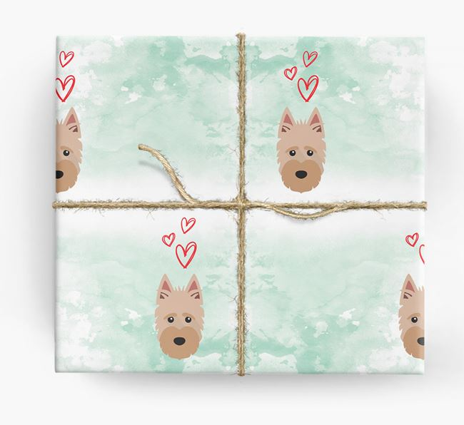 Scottish Terrier Icons & Hearts Wrapping Paper