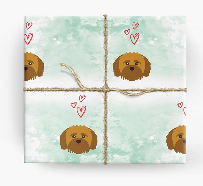 Shih-poo Icons & Hearts Wrapping Paper