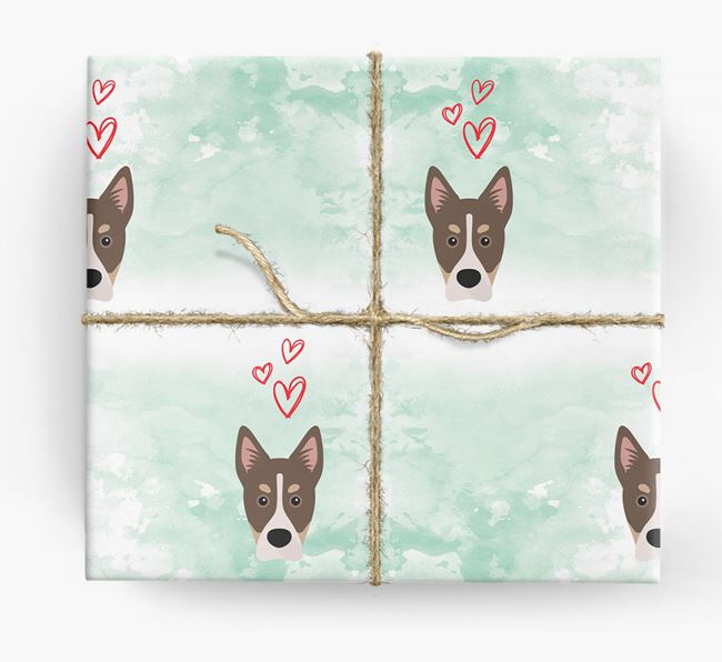 Siberian Cocker Icons & Hearts Wrapping Paper