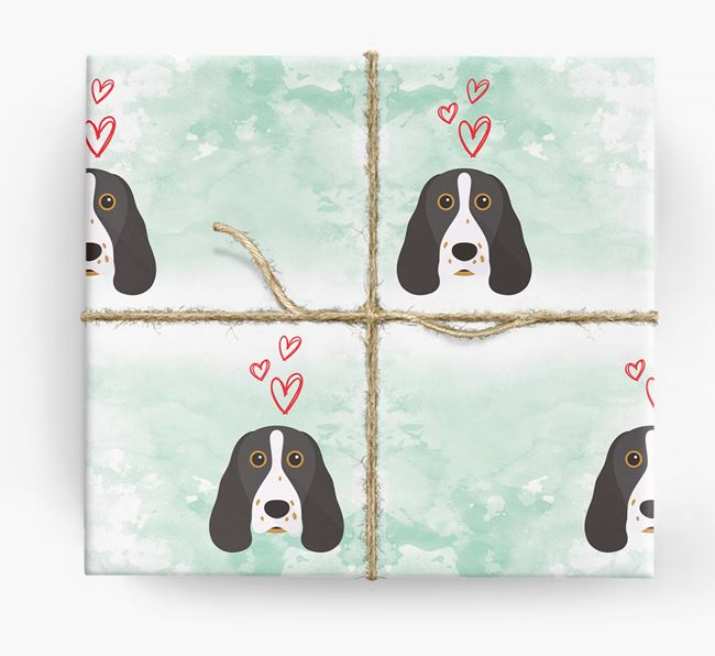 Springer Spaniel Icons & Hearts Wrapping Paper