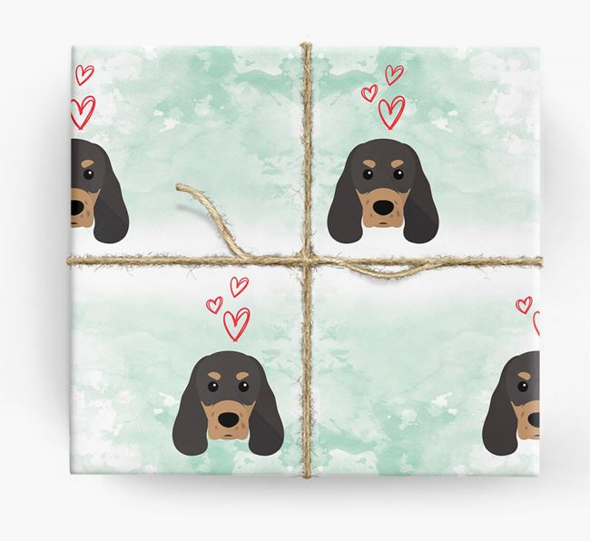 Sprocker Icons & Hearts Wrapping Paper