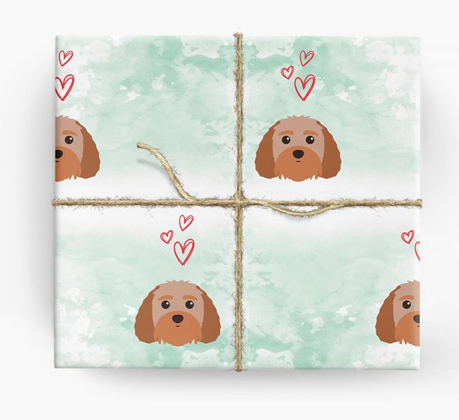 Terri-Poo Icons & Hearts Wrapping Paper