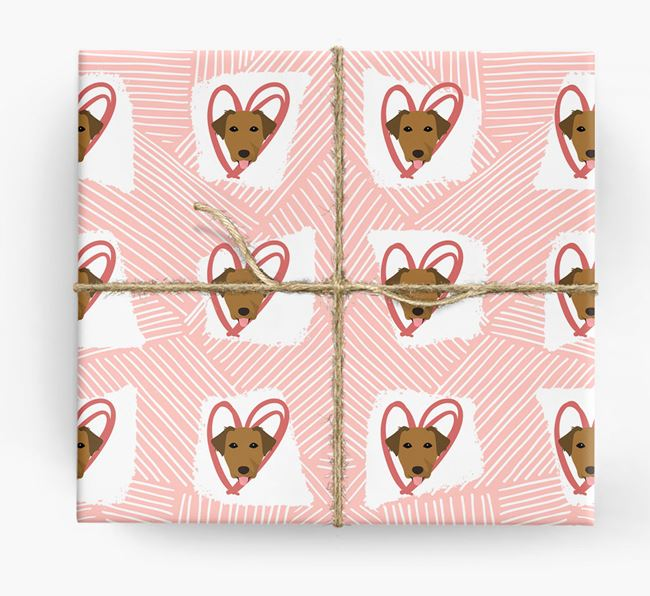 Borador Icons, Lines & Hearts Wrapping Paper
