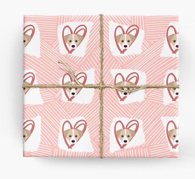 Cheagle Icons, Lines & Hearts Wrapping Paper