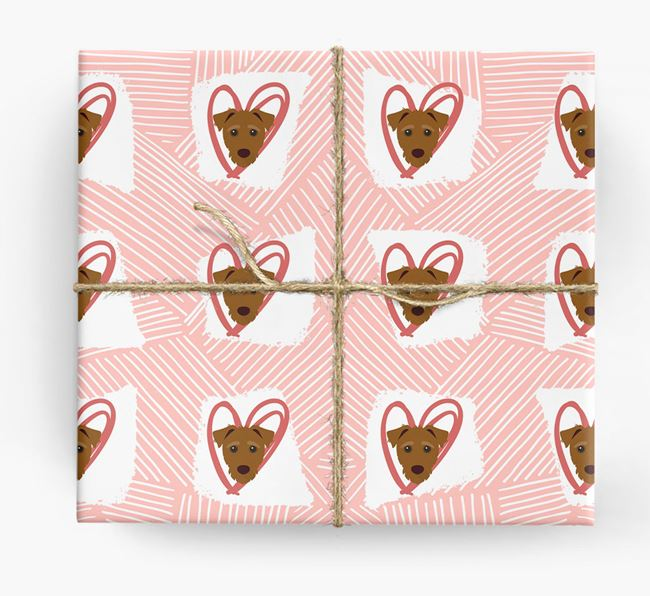 Jack-a-Poo Icons, Lines & Hearts Wrapping Paper