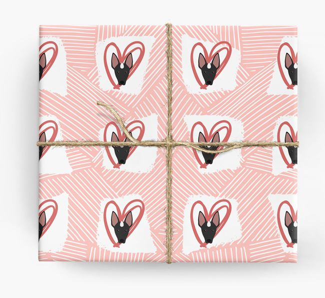 Mexican Hairless Icons, Lines & Hearts Wrapping Paper