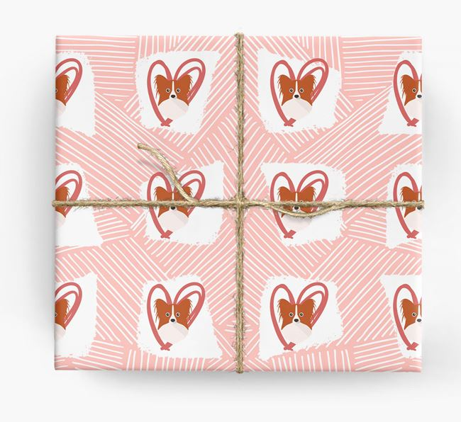 Papillon Icons, Lines & Hearts Wrapping Paper