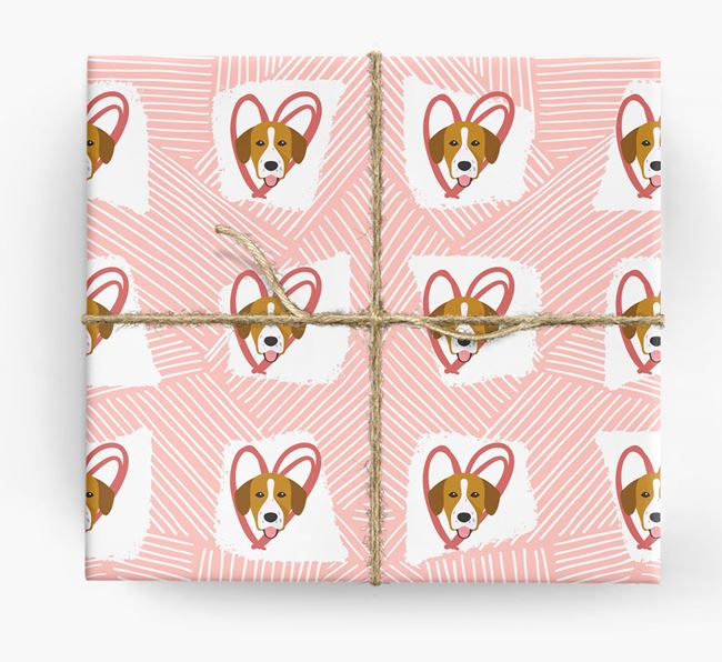 Springador Icons, Lines & Hearts Wrapping Paper