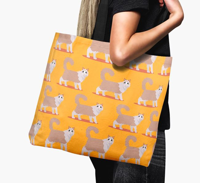 'Yappicon Profile Pattern' - Personalised Cat Canvas Bag