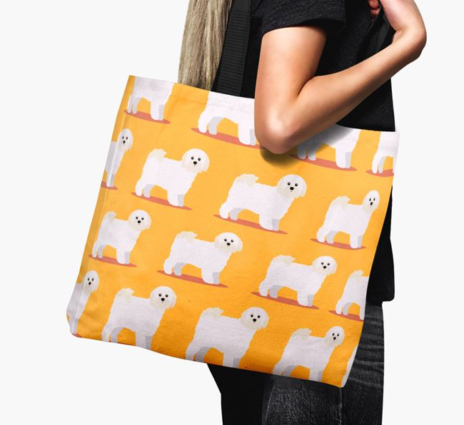 'Yappicon Profile Pattern' - Personalised Shih-poo Canvas Bag