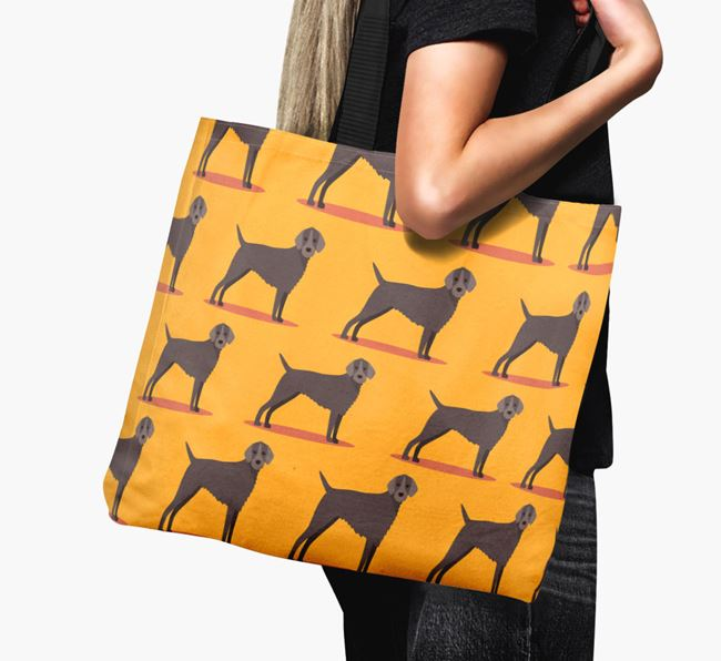 'Yappicon Profile Pattern' - Personalised Slovakian Rough Haired Pointer Canvas Bag