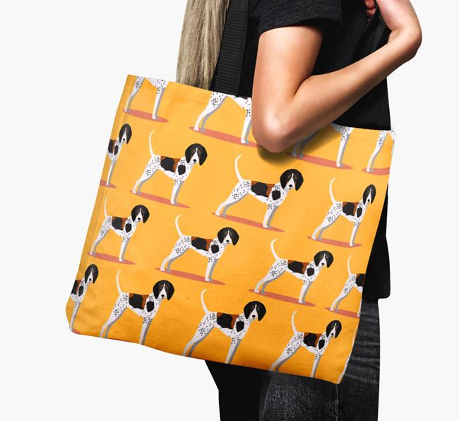 'Yappicon Profile Pattern' - Personalised Treeing Walker Coonhound Canvas Bag