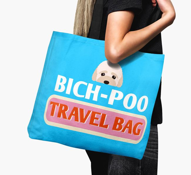 'Bich-poo Travel Bag' - Personalized Canvas Bag