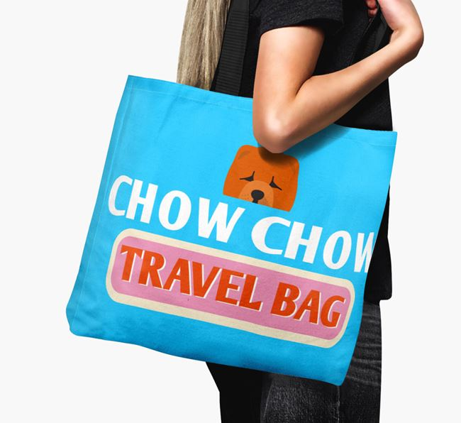 'Chow Chow Travel Bag' - Personalised Canvas Bag