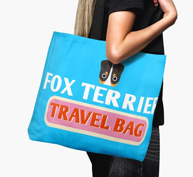 'Fox Terrier Travel Bag' - Personalized Canvas Bag