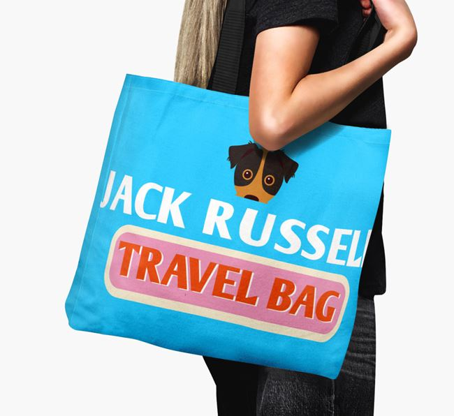 'Jack Russell Travel Bag' - Personalised Canvas Bag