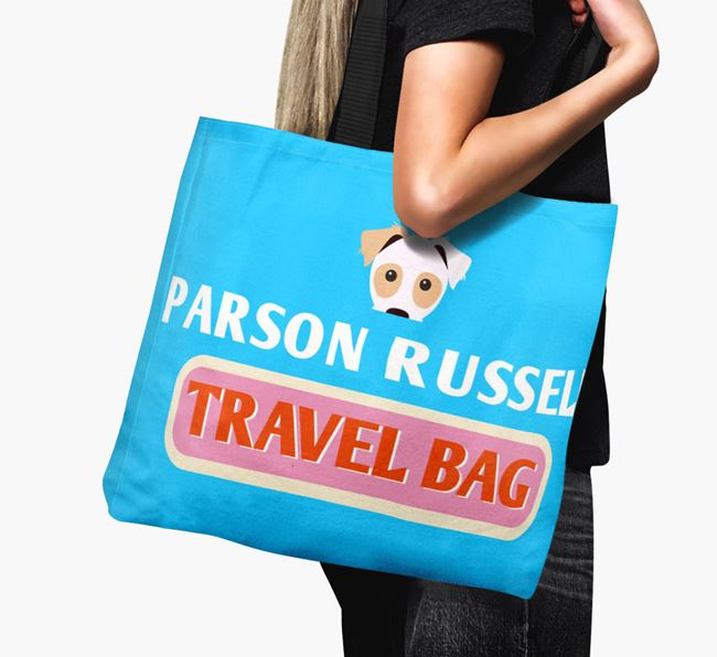 'Parson Russell Travel Bag' - Personalised Canvas Bag