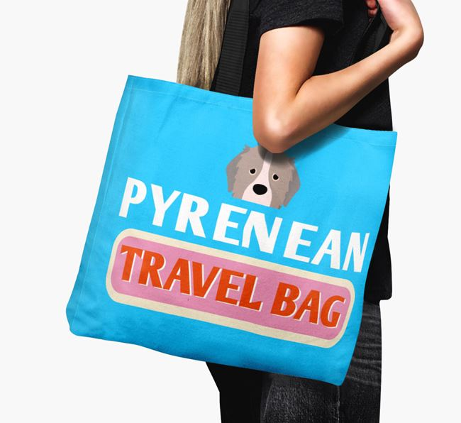 'Pyrenean Travel Bag' - Personalized Canvas Bag
