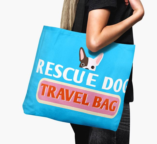 'Rescue Dog Travel Bag' - Personalised Canvas Bag