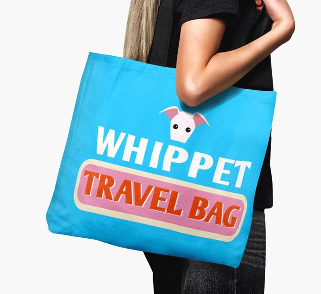 'Whippet Travel Bag' - Personalised Canvas Bag