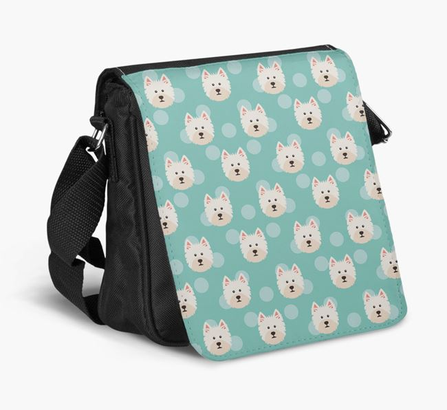 'Yappicon Dot Pattern' - Personalized West Highland White Terrier Walking Bag