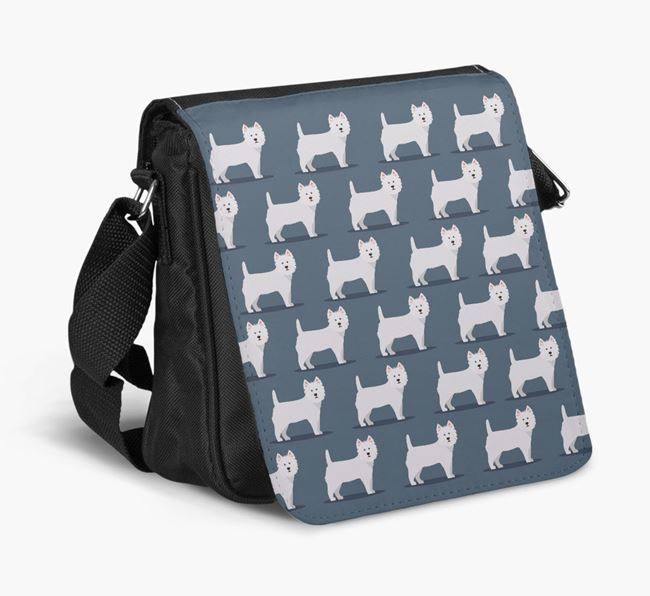 'Profile Yappicon Pattern' - Personalized West Highland White Terrier Walking Bag