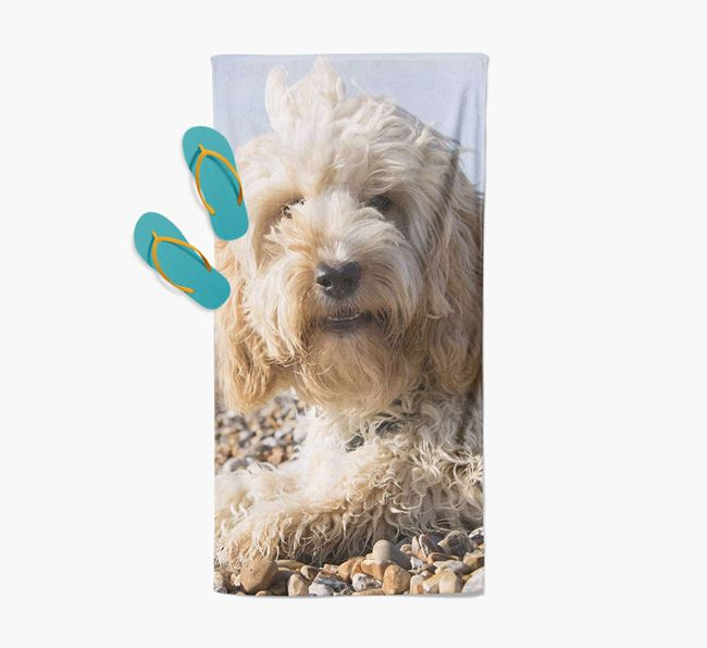 Personalised Photo Upload Beach Towel with your Cockapoo