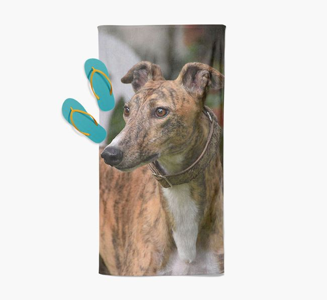 Personalised Photo Upload Beach Towel with your Greyhound