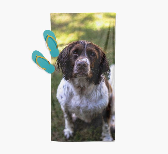 Personalised Photo Upload Beach Towel with your Springer Spaniel