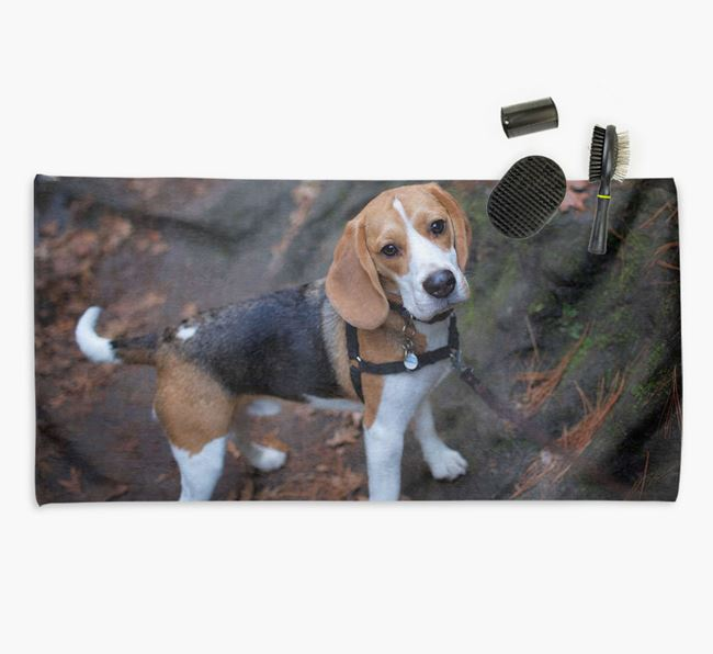 Personalised Photo Upload Dog Towel with your Beagle