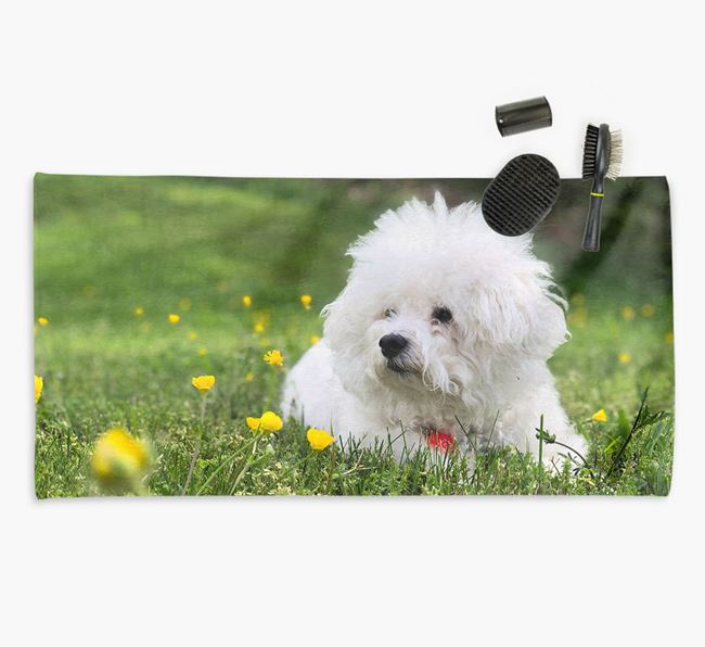 Personalised Photo Upload Dog Towel with your Bichon Frise