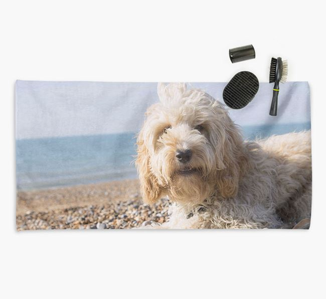 Personalised Photo Upload Dog Towel with your Cockapoo